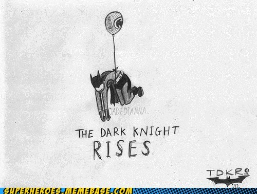 Awesome Art balloon dark knight rises - 6430762752