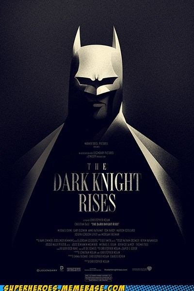 Awesome Art batman Dark Knight Rises Movie poster - 6430767104