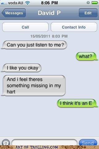heart sms spelling - 6430767360