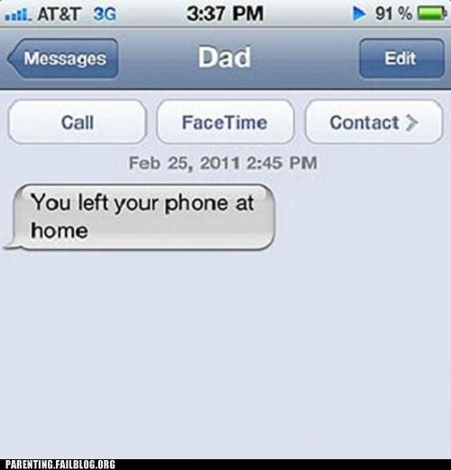 dad,iphone,text