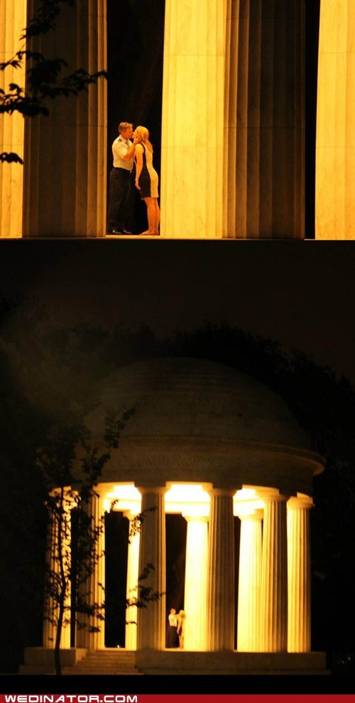 funny wedding photos,monument,proposal,washington dc