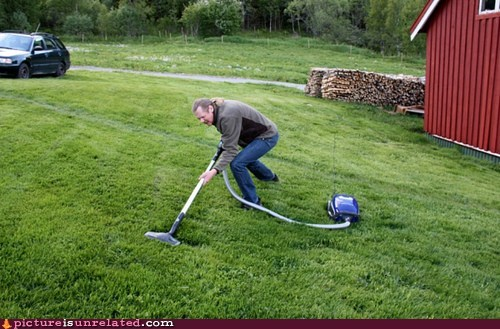 cleaning lawn outside vacuum wtf - 6430833408