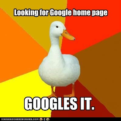 Looking for Google home page GOOGLES IT.