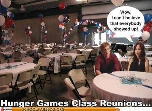 class reunion,everybody showed up,hunger games
