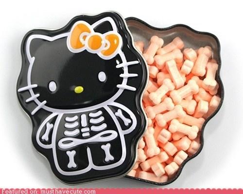 bones candy hello kitty skeleton tin - 6430989824