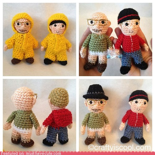 Amigurumi,breaking bad,characters,costume,Crocheted,figurines,Jesse,walter white
