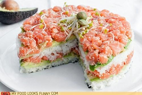 bear cake fish rice sushi - 6431036928