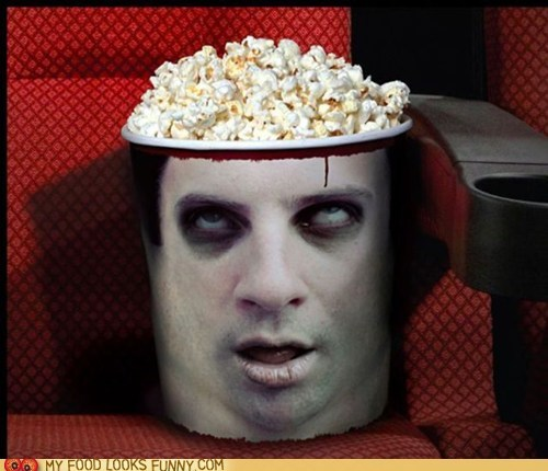 brains bucket Popcorn zombie