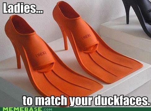dolan duckface feet flippers high heels Memes - 6431074048