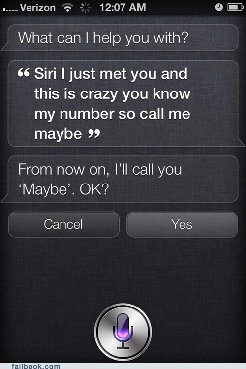 call me maybe,Call Me Siri,maybe,siri