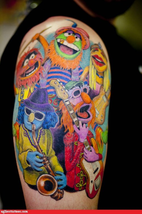 arm tattoos dr. teeth and the electri dr-teeth-and-the-electric-mayhem Hall of Fame muppets win - 6431097344