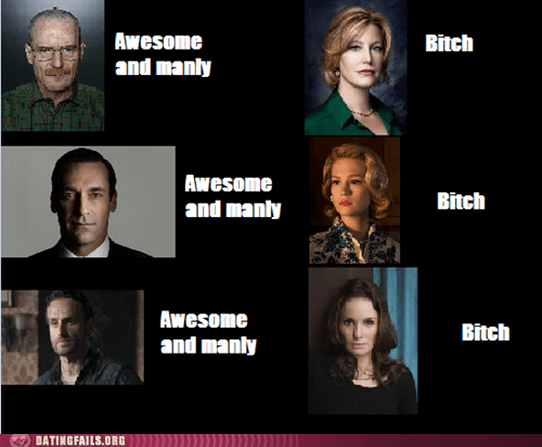 AMC shows,breaking bad,dating fails,mad men,The Walking Dead,women-vs-men