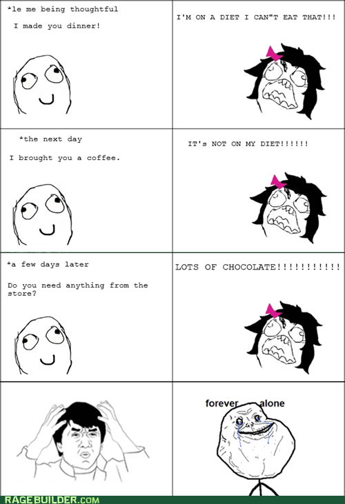 chocolate diet forever alone Rage Comics - 6431197184