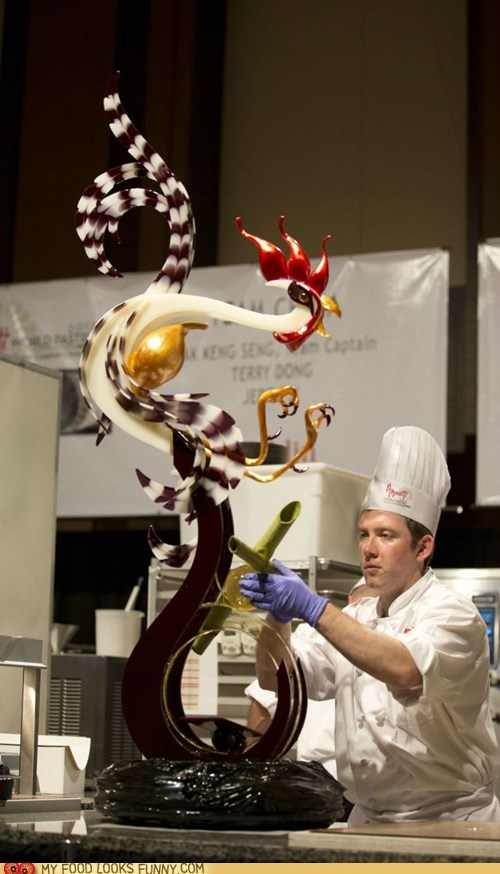 amazing art chicken chocolate sculpture - 6431212544