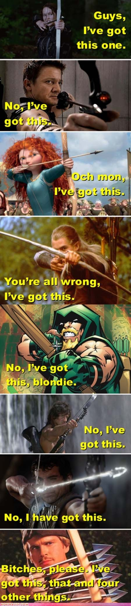 best of the week brave comic funny green arrow Lord of the Rings Movie rambo robin-hood-men-in-tights The Avengers hunger games
