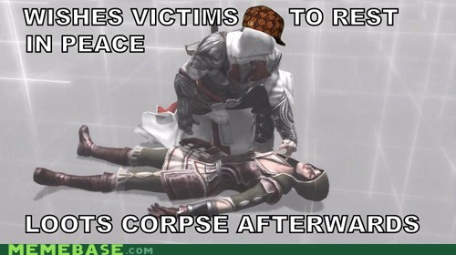 assassins creed ezio fun loottime meme scumbag - 6431379968