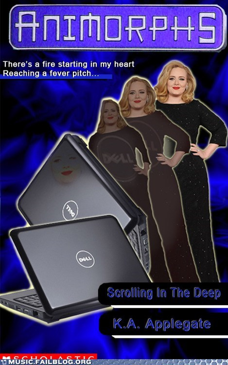 adele animorphs g rated laptop Music FAILS pun rolling in the deep - 6431420672