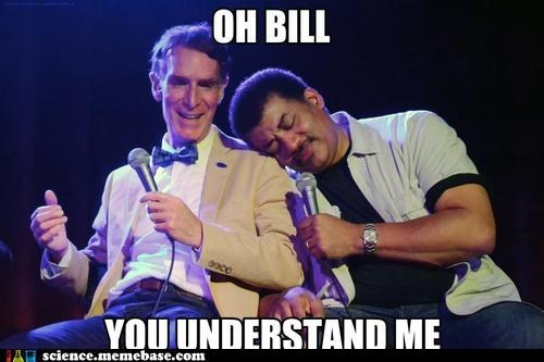 bill nye bromance hugs Neil deGrasse Tyson Professors