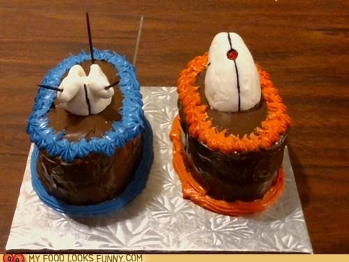 best of the week cake chocolate gun Portal rings - 6431508992