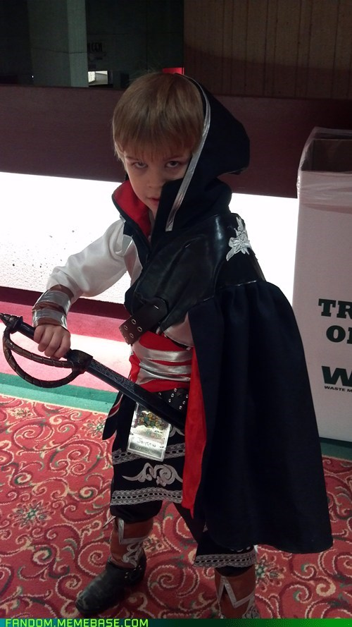 assassins creed,cosplay,cute,kids,video games