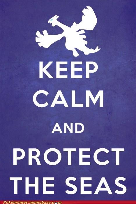keep calm,lugia,meme,Memes,water
