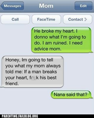 broken heart iphone motherdaughter text - 6431571200