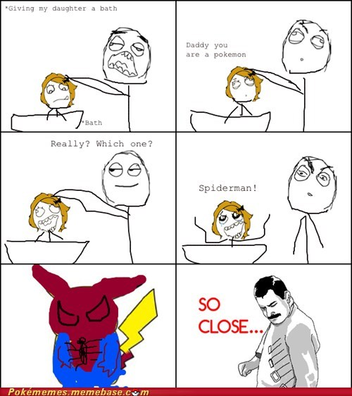 kids,pikachu,rage comic,Rage Comics,Spider-Man,string shot