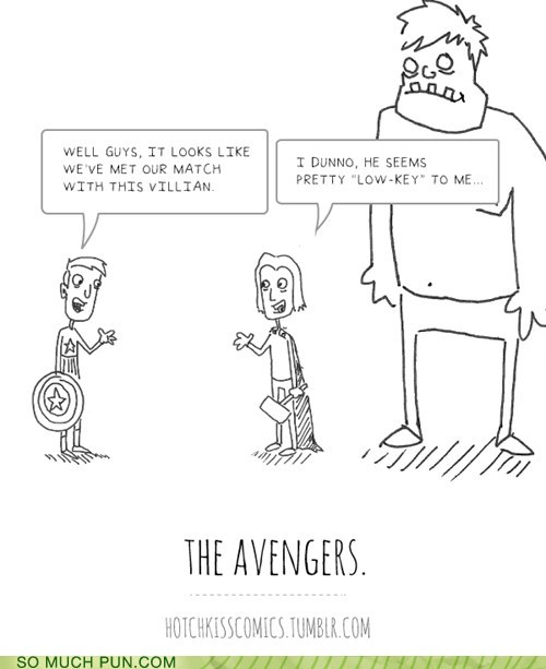 conversation,exploitable,homophones,loki,low key,name,The Avengers