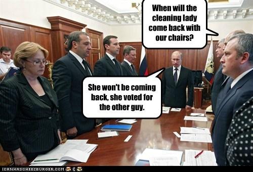 maids,political pictures,Vladimir Putin