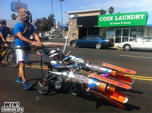nerdgasm,pod racing,star wars,stroller