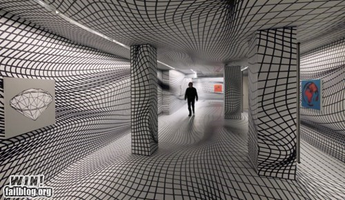 design graph illusion room trippy