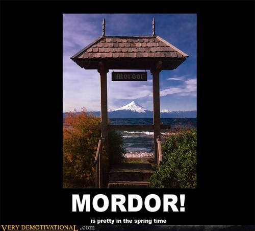 hilarious,Lord of the Rings,mordor,pretty,spring,wtf