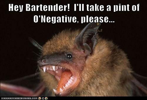 bartender bat Blood drinks ordering - 6432313344