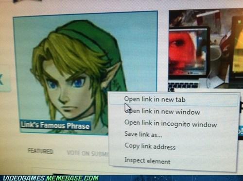 memebase open new link pun zelda