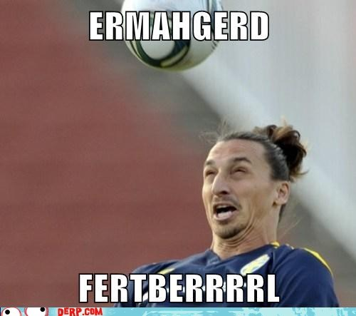derp football futbol headbutt sports
