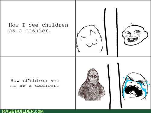 cashier children Rage Comics shadowlurker