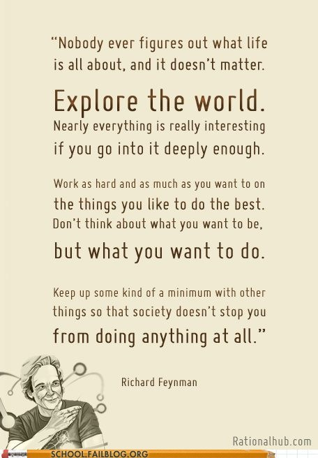 explore the world,preach,richard feynman,Words Of Wisdom