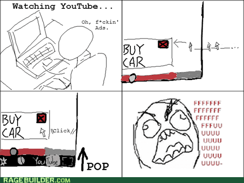ads fu guy Rage Comics youtube