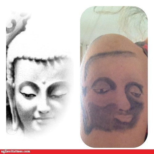 arm tattoos buddah facial hair