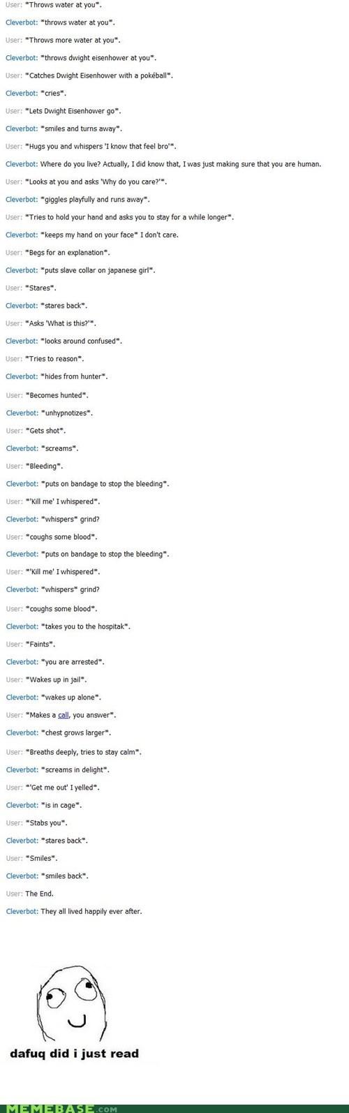 Cleverbot dafuq Text Stuffs - 6433306624