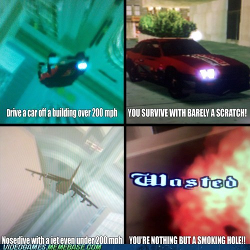 airplane,car,crash,gameplay,Grand Theft Auto,wasted