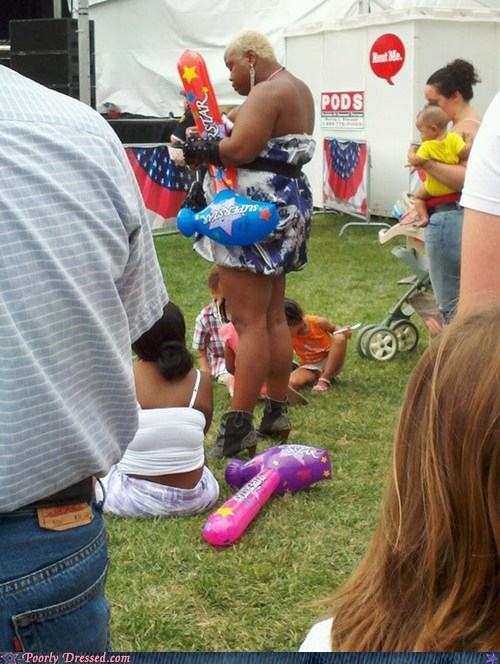 Carnival,dress,fair,heels,inflatable