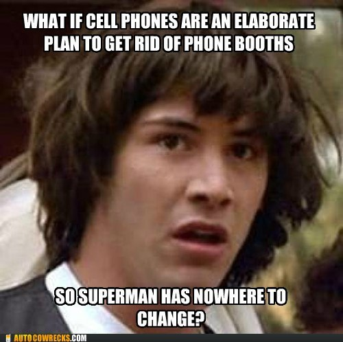 Clark Kent conspiracy keanu phone booths superman - 6433793280