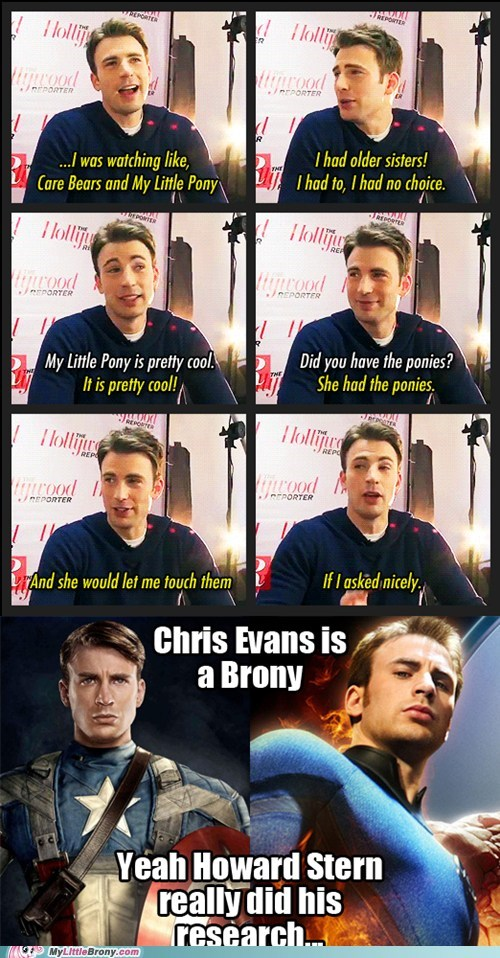 best of week brony bronycon celeb chris evans howard stern the internets - 6433840384