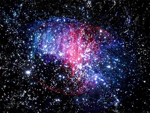 fabian oefner,nebulae,outer space art,stars