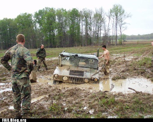 jeep grand cherokee military mud range rover stuck