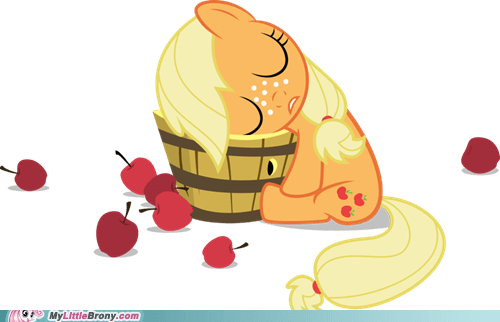 applebucking applejack cute dawww the internets - 6433991936