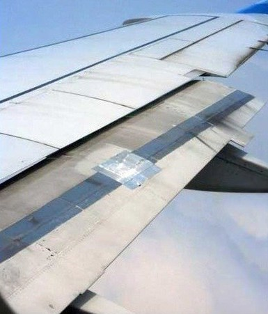 airplane airplane wing duct tape engineer g rated Hall of Fame there I fixed it
