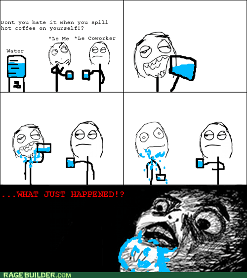 Rage Comics,raisin face,spill,water