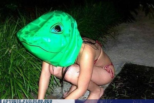 frog frog mask ribbit